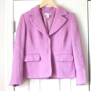Ann Taylor loft wool orchid lavender blazer